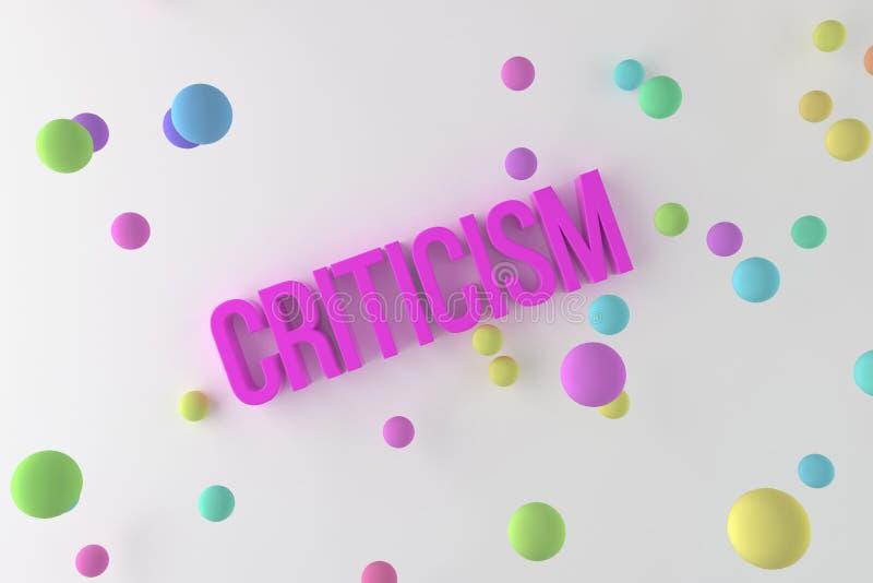 Kritik, Geschäft buntes begrifflich3D übertrug Wörter Kommunikation, Netz, Positiv u. Typografie vektor abbildung