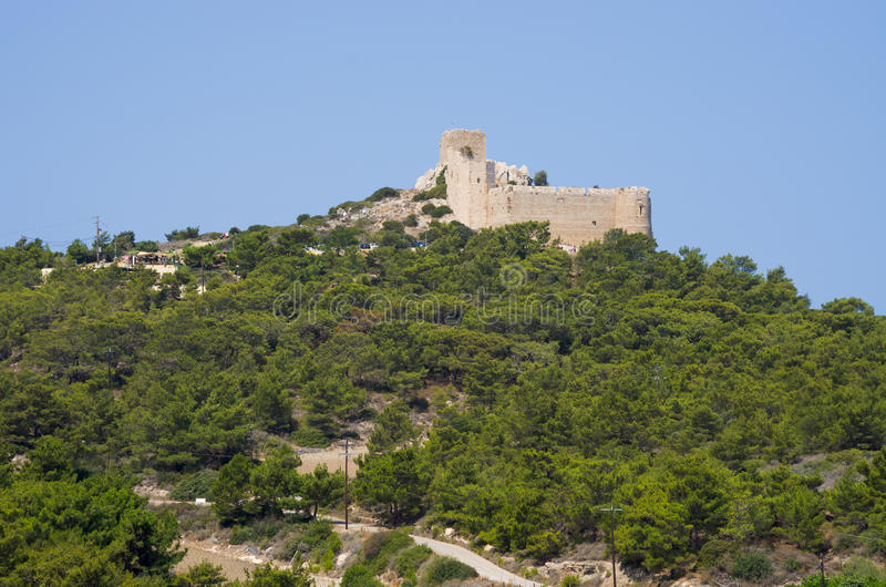 Kritinia slott på den Rhodes ön, Grekland arkivfoto