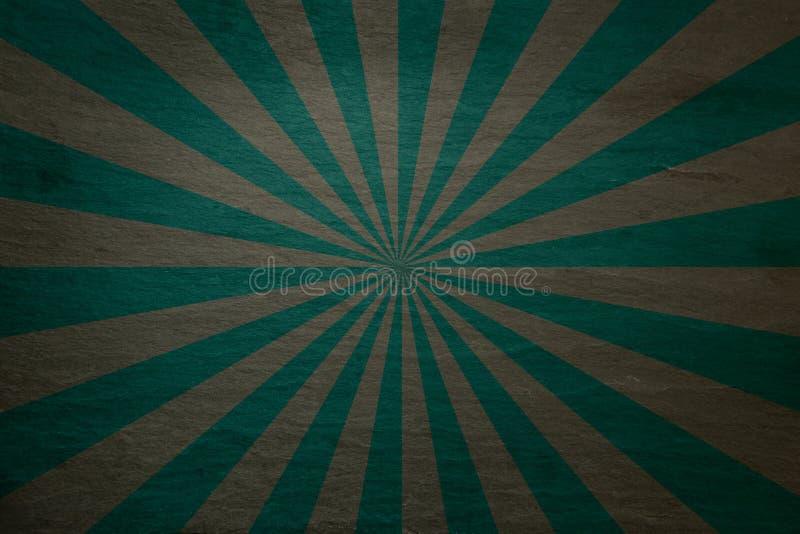 Kritiserar grönt och grått mörker för kricka bakgrund - med retro starburst royaltyfri illustrationer