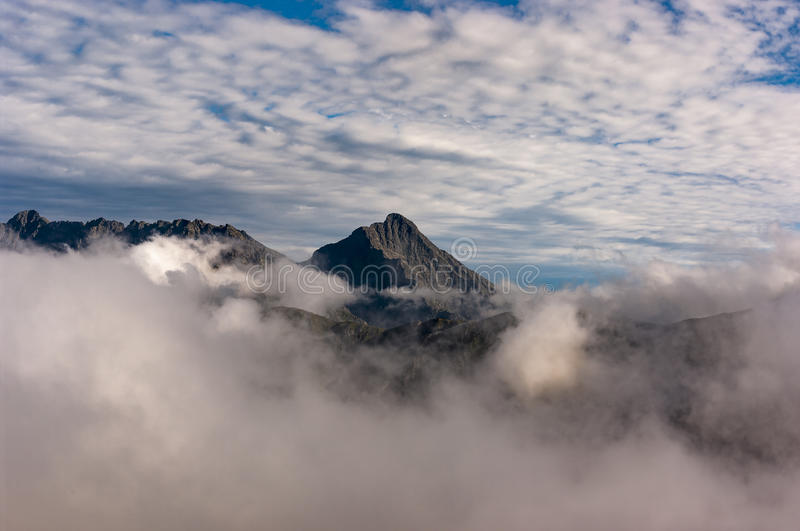 Krivan great mountain peak in the clouds. The High Tatras. Slovakia royalty free stock images