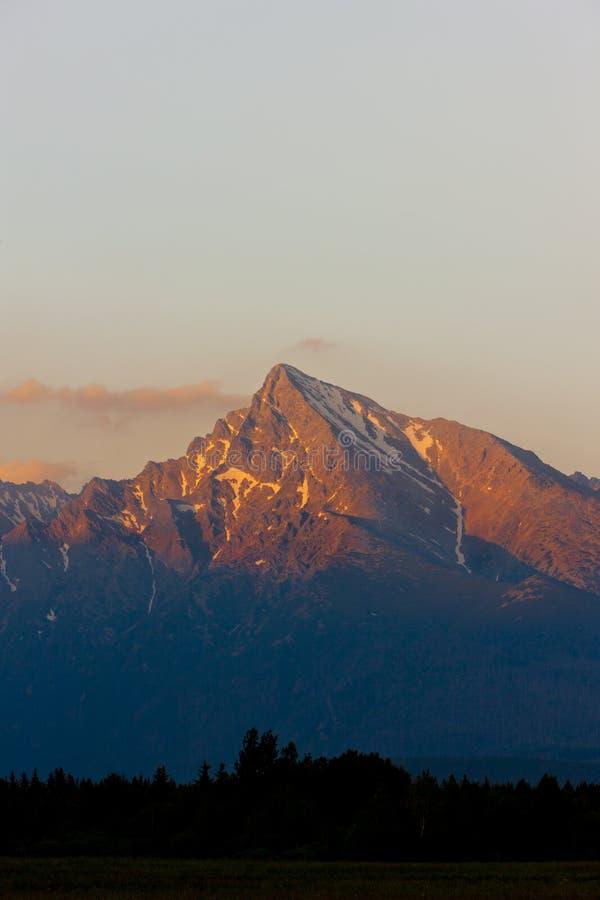 Krivan in High Tatras stock images