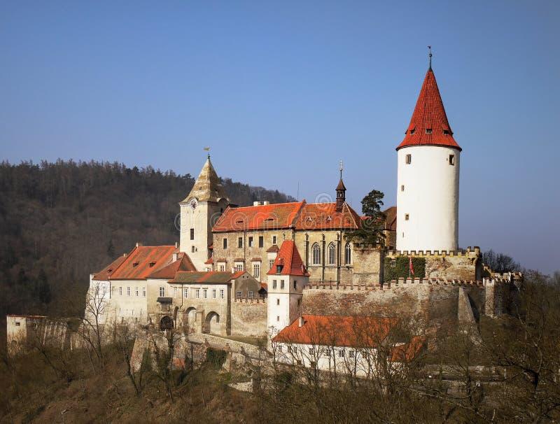 Romantic Fairytale Castle Prague Krivoklat royalty free stock photography