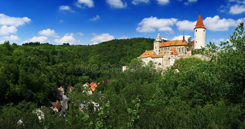 Krivoklat Castle Panorama