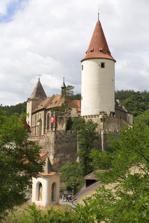 Krivoklat, Królewski łowiecki gothic kasztel, swój początki datuje z powrotem 12th wiek, republika czech zdjęcia royalty free