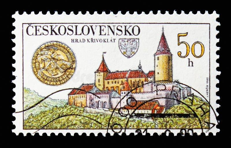 Krivoklat roszuje, skarby Czechoslovak kasztele i chateaux obraz stock