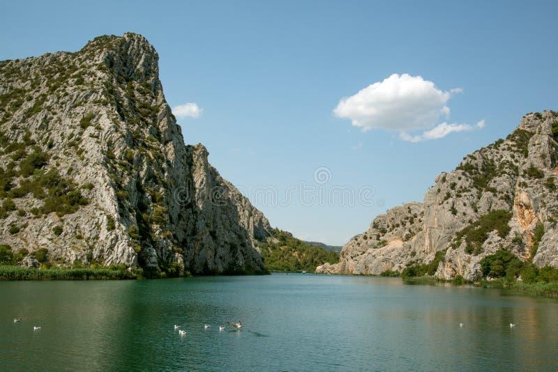 Krka canyon stock image