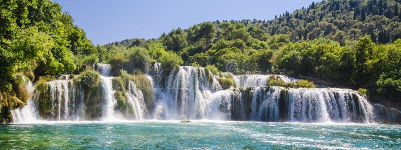 Krka flodvattenfall, Dalmatia, Kroatien royaltyfri fotografi