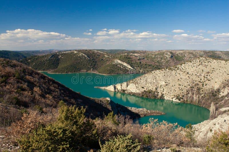 Krka nationaal park van de rivier royalty-vrije stock fotografie