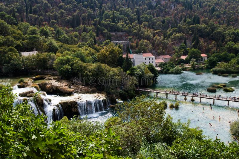 Krka Nationalpark lizenzfreie stockfotos