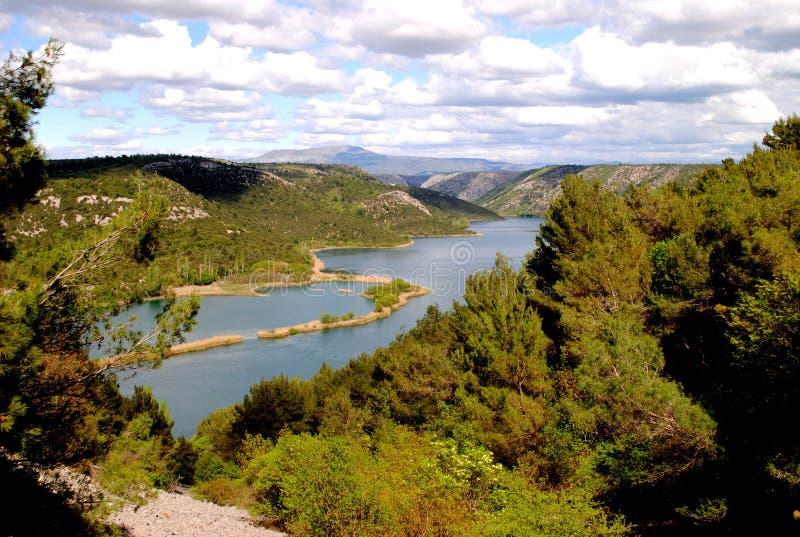Krka park narodowy Chorwacja zdjęcie royalty free
