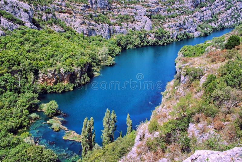 Krka River Valley, parco nazionale di Krka in Croazia immagini stock
