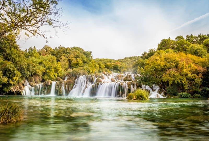 Krka siklawy Chorwacja obraz royalty free