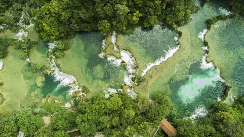 Krka Wasserfälle stockfotografie