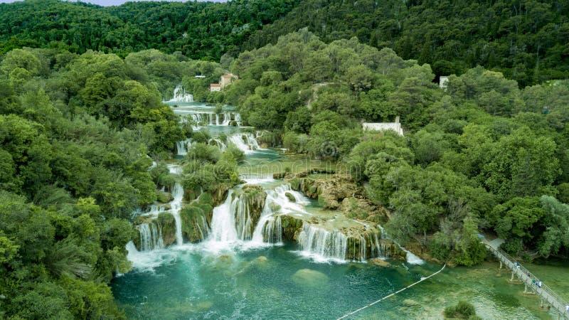 Krka Wasserfälle stockfotos
