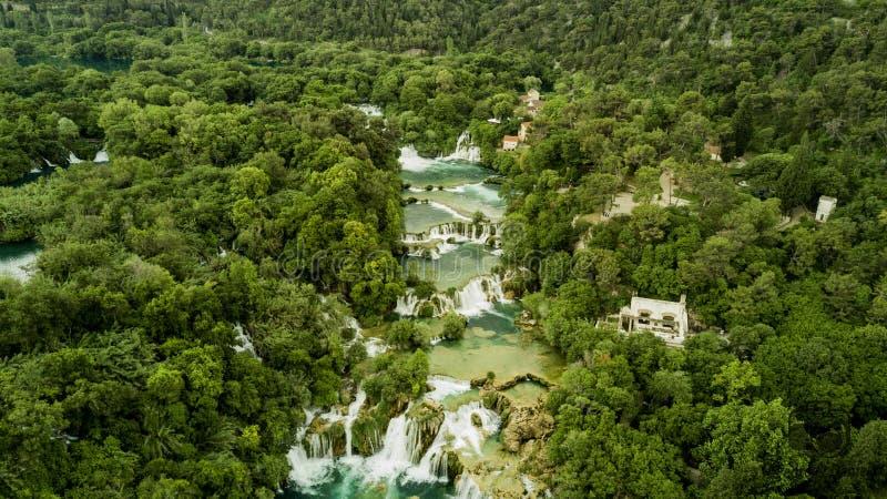 Krka Wasserfälle stockbilder