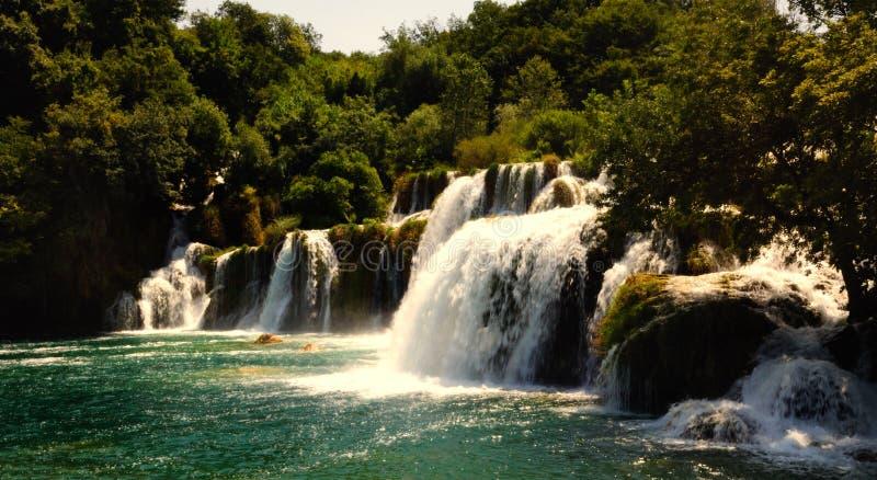 Krka Wasserfall Skradinski Buk stockfotografie