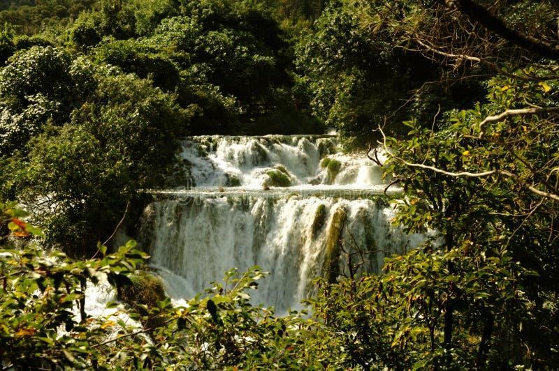 Krka waterfall royalty free stock photo