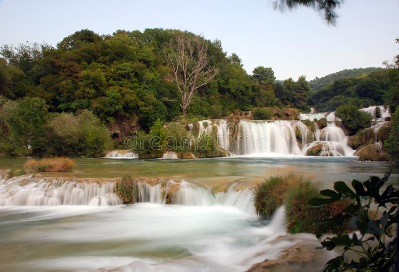 Krka waterfalls 2. Waterfalls in national park Krka in Croatia royalty free stock images