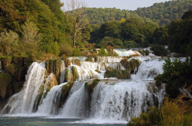 Krka waterfalls 3. Waterfalls in national park Krka in Croatia royalty free stock photography