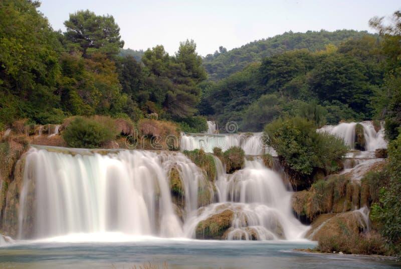 Krka waterfalls 4. Waterfalls in national park Krka in Croatia royalty free stock images