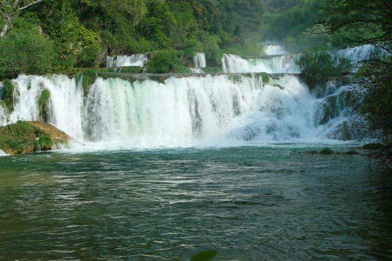 Krka waterfalls (Croatia) royalty free stock image