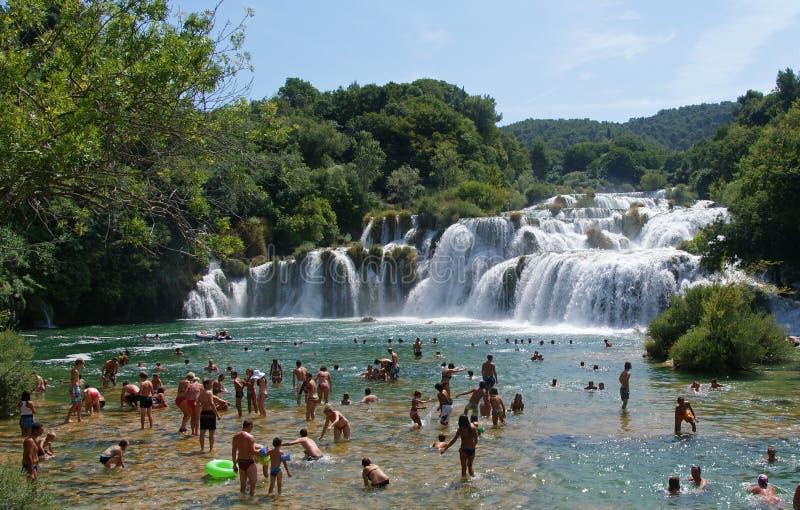 Krka waterfalls national park royalty free stock photo
