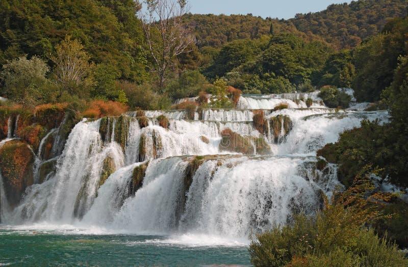 Download Krka waterfalls3 stock image. Image of leaf, lake, flowing - 26092119