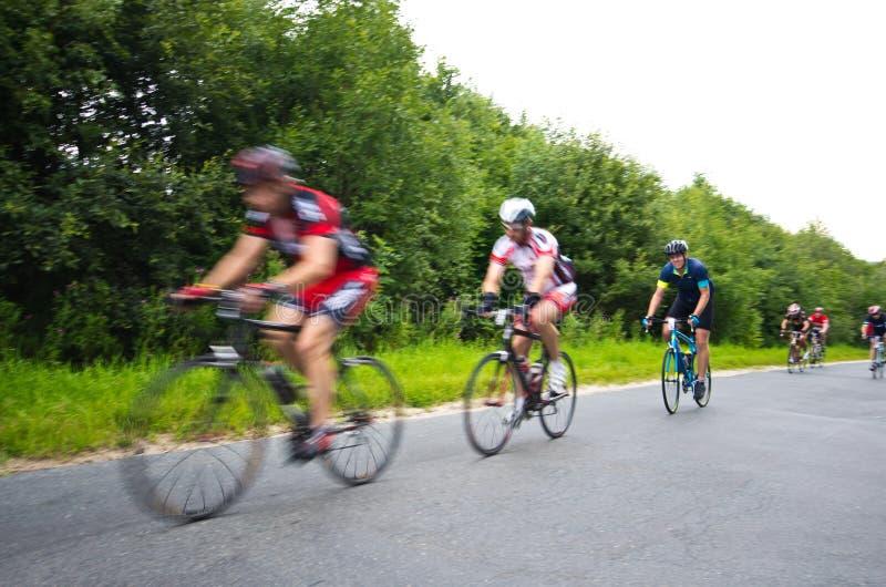 Krkonose cycling tour 2016 royalty free stock photography