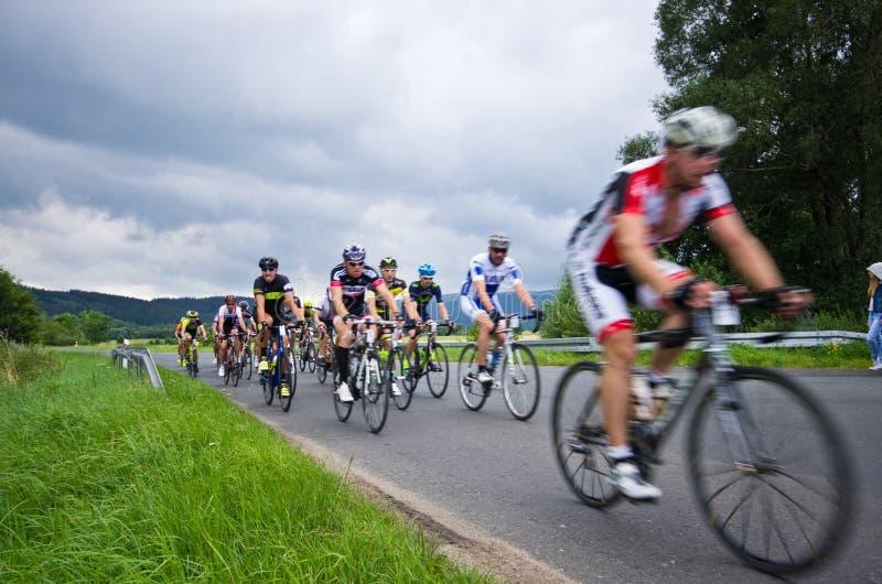 Krkonose cycling tour 2016 stock images