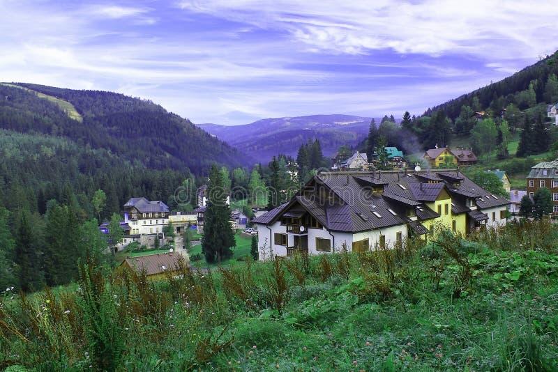 Krkonose krajobraz i park narodowy zdjęcia royalty free