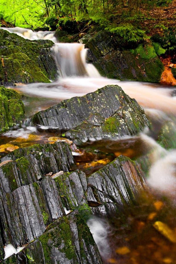 Krkonose waterfall stock photos