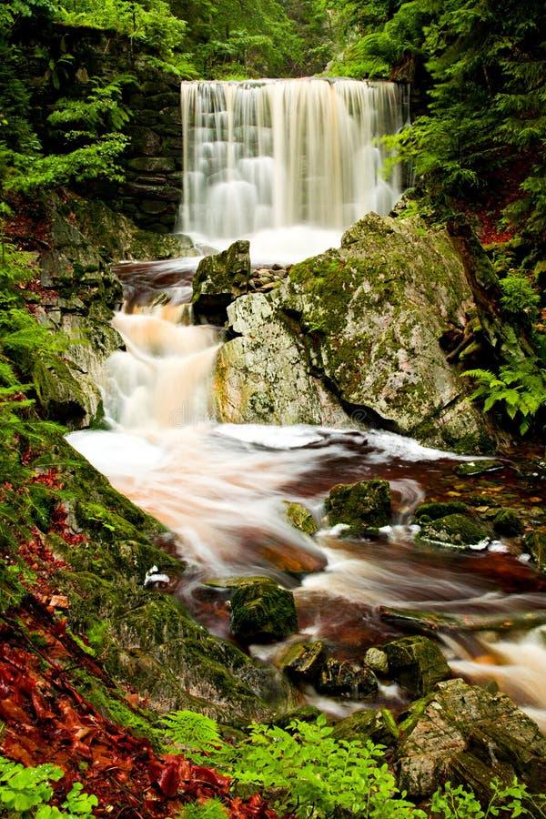 Krkonose waterfall stock photo