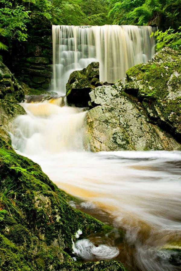 Krkonose waterfall stock images