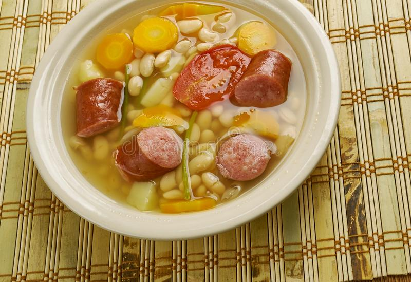 Kroat Bean Soup arkivbild