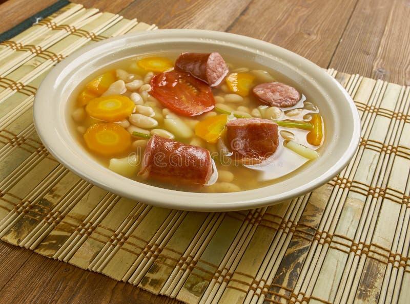 Kroat Bean Soup fotografering för bildbyråer
