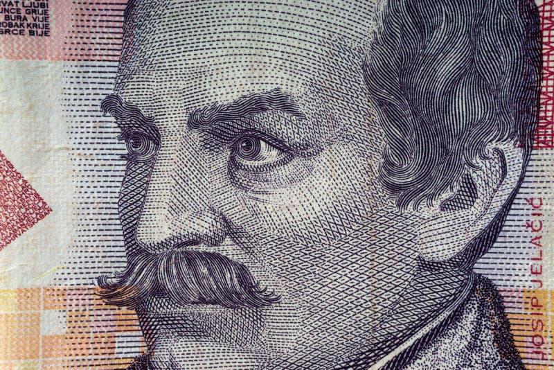 Kroat KUNA eller för pengarvaluta för STO KUNA closeup royaltyfria foton