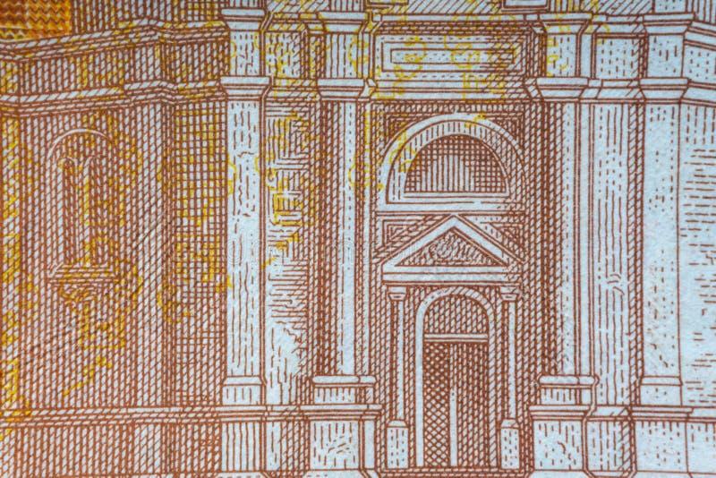 Kroat KUNA eller för pengarvaluta för STO KUNA closeup royaltyfri fotografi