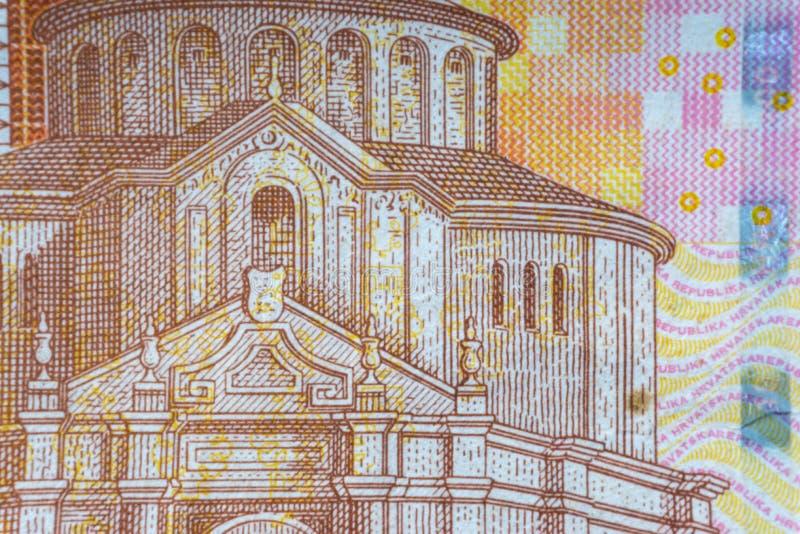 Kroat KUNA eller för pengarvaluta för STO KUNA closeup royaltyfria bilder