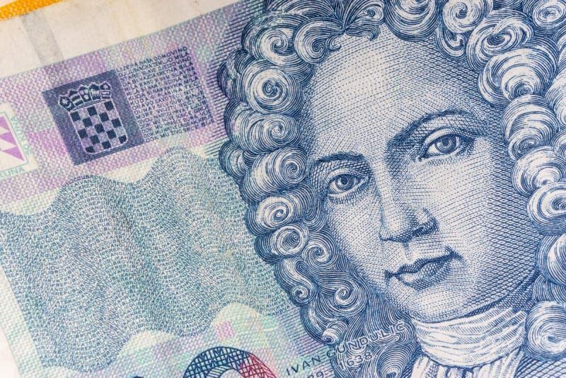 Kroat KUNA eller för pengarvaluta för STO KUNA closeup fotografering för bildbyråer