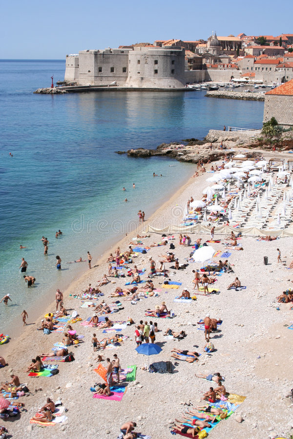 Kroatië-Dubrovnik stock foto's