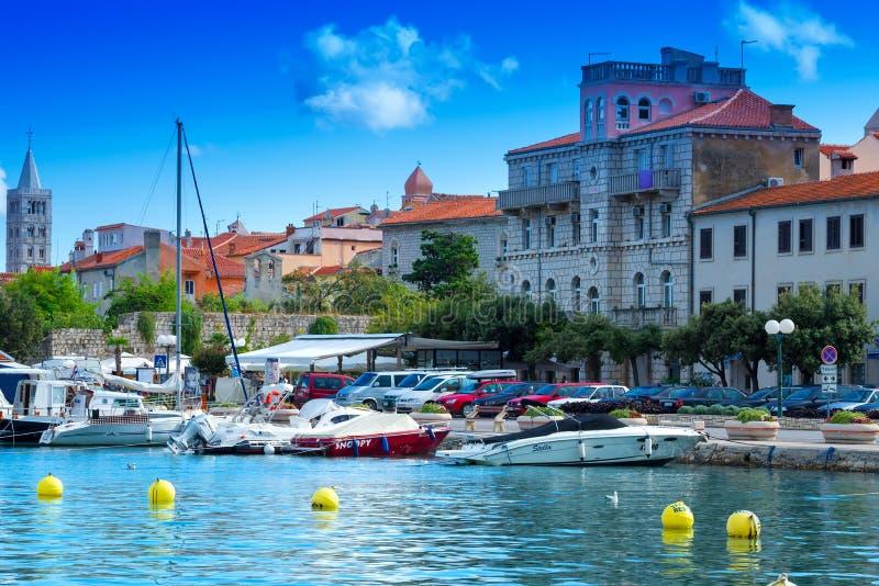 Kroatië, Rab City-haven stock foto