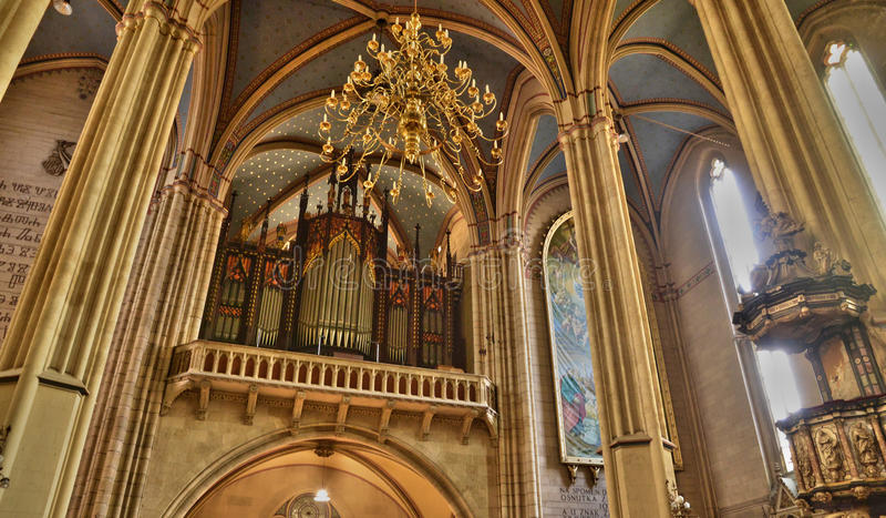 Kroatië, schilderachtige kathedraal van Zagreb royalty-vrije stock fotografie