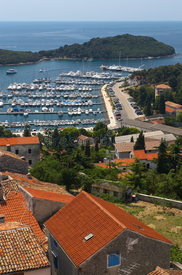 Kroatië, Vrsar stock afbeeldingen