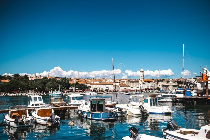 Kroatia d'île de krk de vue images libres de droits