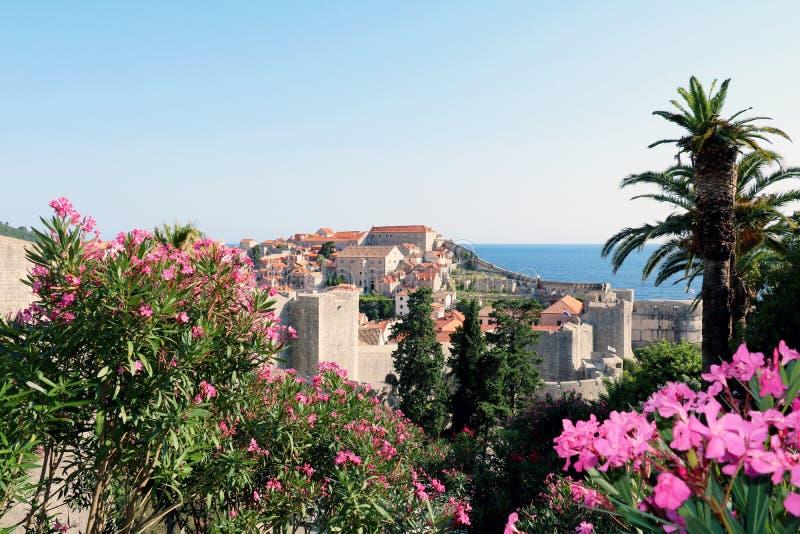 kroatien dubrovnik Beschneidungspfad eingeschlossen stockfoto