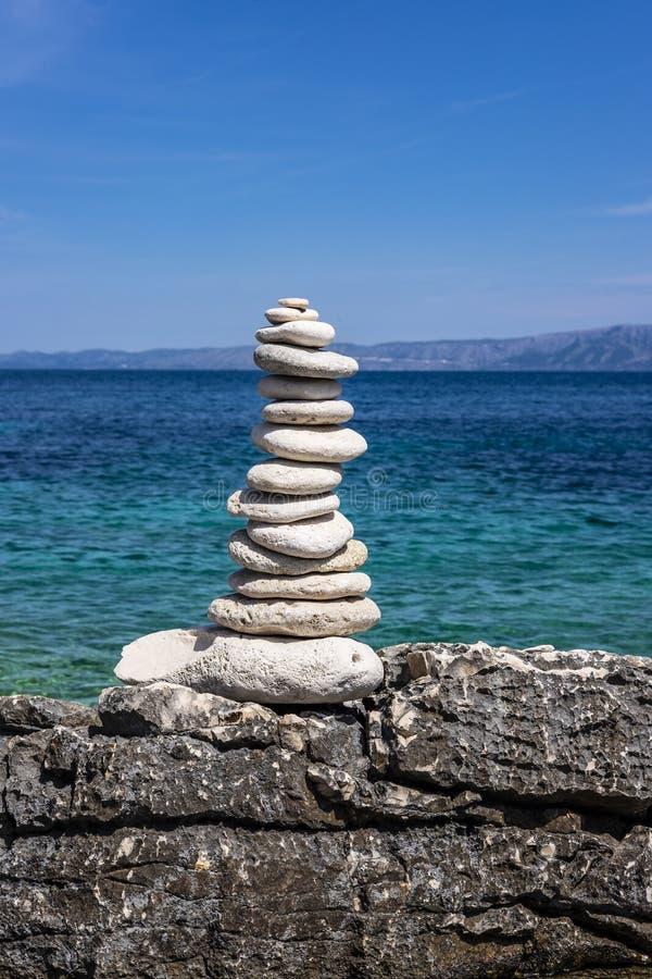 Kroatien för Korcula ö, Dalmatia arkivbild