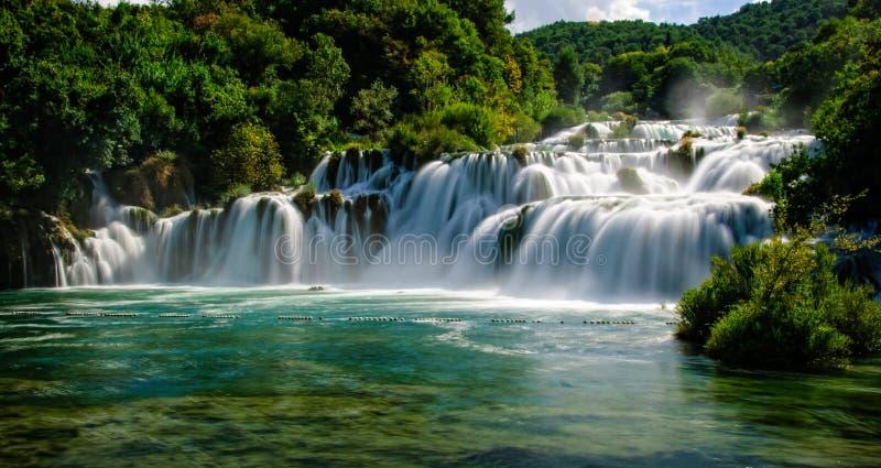 Kroatien-krka Wasserfall lizenzfreie stockfotografie