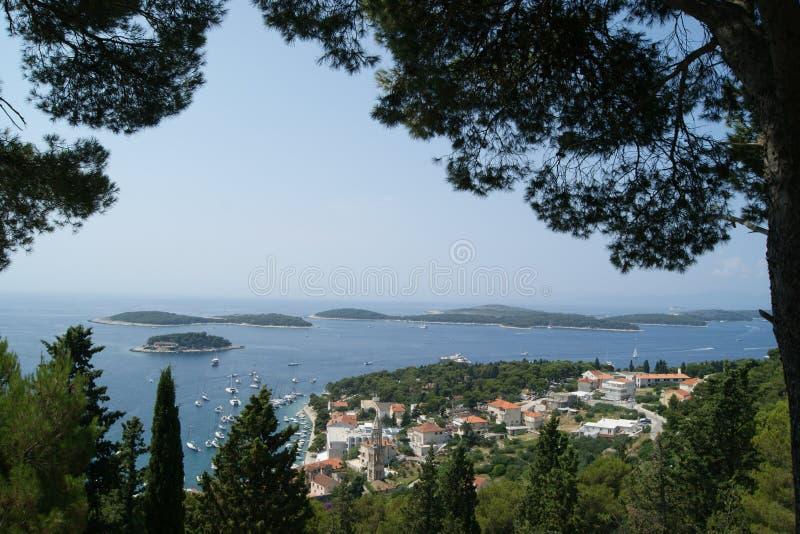 Kroatien landskap/landskap arkivfoto