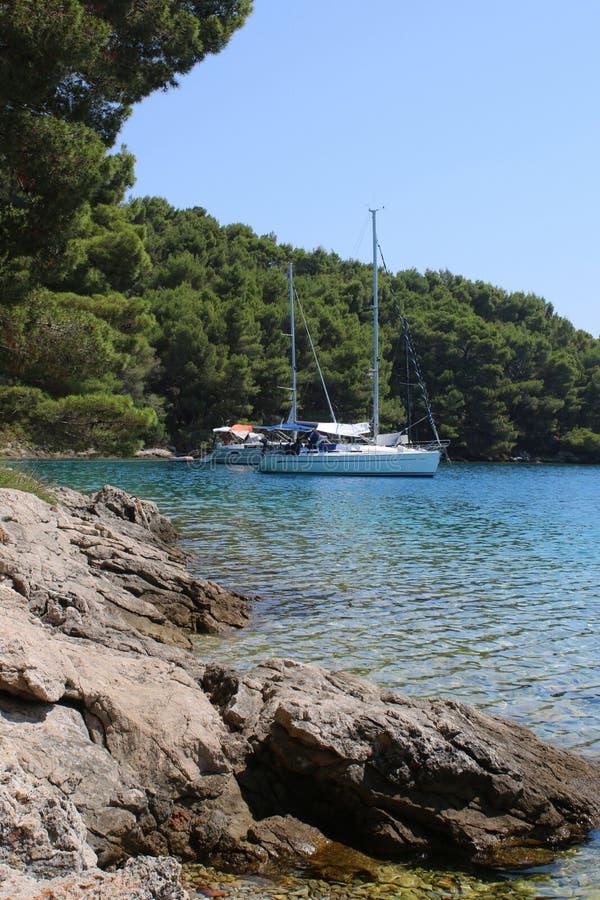 Kroatien natur och landskap Europa lopp wanderlust arkivbild