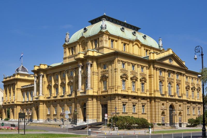 Kroatisch Nationaal Theater royalty-vrije stock afbeelding